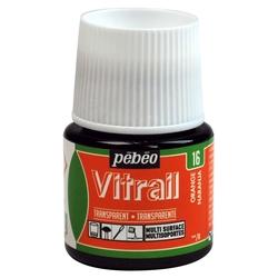 Pebeo - Vitrail Solvent Bazlı Cam Boya 45ml Şişe - 05016 Orange