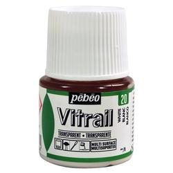 Pebeo - Vitrail Solvent Bazlı Cam Boya 45ml Şişe - 05020 White