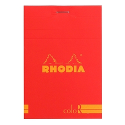 Rhodia - 8,5x12cm Çizgili Blok Poppy Kapak 90gr 70 Yaprak