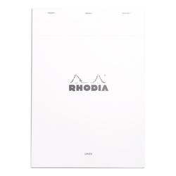 Rhodia - A4 Çizgili Blok Beyaz Kapak 80 Yaprak
