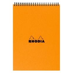 Rhodia - Basic A5 Çizgili Blok Turuncu Kapak 80 Sayfa