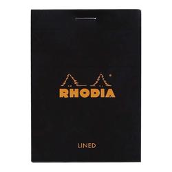 Rhodia - Basic A7 Çizgili Blok Siyah Kapak 80 Sayfa