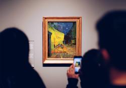 Van Gogh, Cafe Terrace at Night - Tuval Üzerine Sayılarla Boyama Seti 40x50cm - Thumbnail