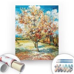 Bir Kutu Sanat - Van Gogh, The Peach Tree - Tuval Üzerine Sayılarla Boyama Seti 40x50cm